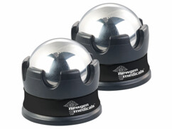 2 boules de massage en acier inoxydable avec support à rotation 360° roll-on