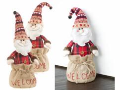 """2 cale-portes Pères Noël décoratifs """"Welcome"""""""