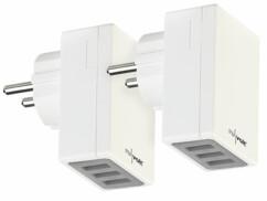 2 chargeurs secteur avec 3 ports USB et technologie Smart Power - 17 W