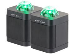 Deux enceintes bluetooth Auvisio avec effets lumineux.