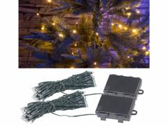 Lot de 2 guirlandes lumineuses LED à piles de 5 mètres.