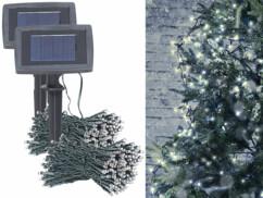 Lot de 2 gsuirlande lumineuses solaires à LED de 20 mètres.