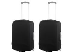 2 housses de protection élastiques pour valise jusqu'à 42 cm - Taille S