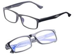 2 lunettes de protection anti-lumière bleue +1,5 dioptrie avec protection UV400