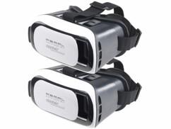 Lot de 2 lunettes de réalité virtuelle VRB58.3D pour smartphone.