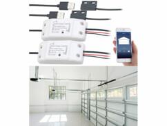 2 récepteurs connectés pour porte de garage compatibles Siri et Google Assistant