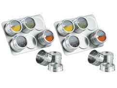 Deux supports à épices magnétiques Rosenstein & Söhne avec chacun 6 pots.