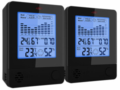 2 thermomètres-hygromètres avec alarme anti-moisissures
