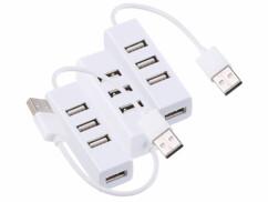 3 hubs USB 2.0 ultra-compacts avec 4 ports