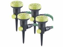 4 arroseurs de pelouse avec 9jets différents et piquets