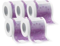 5 rouleaux de papier toilette ''500 €''