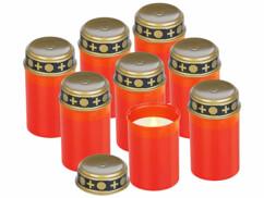 8 bougies funéraires à LED effet flamme