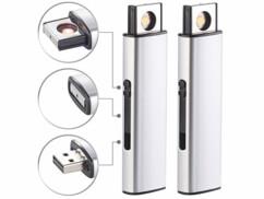 2 briquets électroniques USB 7 W à spirale incandescente