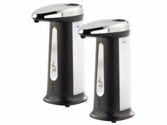 2 distributeurs de savon automatiques 400 ml avec capteur infrarouge