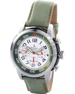 Montre chronographe style militaire