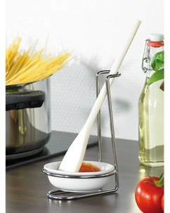 Repose-cuillère et ustensiles de cuisine
