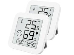 2 thermomètres-hygromètres numériques avec écran E-Ink