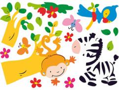 Autocollants muraux pour enfants - ''Madagascar''