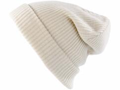 Bonnet tricoté blanc