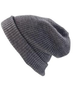 Bonnet tricoté gris clair