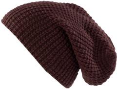 Bonnet tricoté XXL ''Long Beanie'' - marron foncé