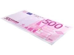 Drap de bain microfibre design billet de 500 € - 180 x 90 cm