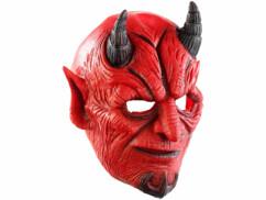 Masque de diable en latex avec bouche mobile