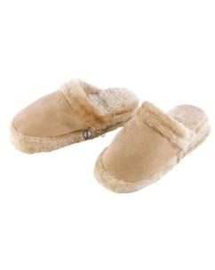 Paire de pantoufles chauffantes  avec piles - taille 40/42