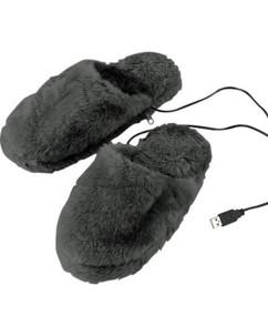 Pantoufles chauffantes USB molletonnées - tailles 40 à 46