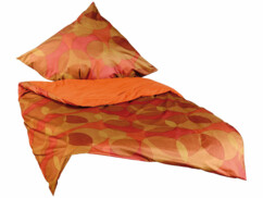 Parure de lit sans repassage - jaune / mandarine