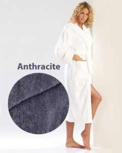 Peignoir confort anthracite taille L