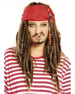 Perruque pirate cheveux châtains