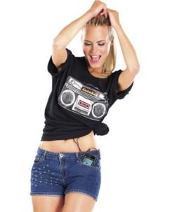 T-shirt avec égaliseur et haut-parleur ''Boom Box Sound''