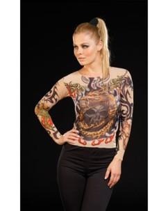 T-Shirts Tattoo en stretch - Tribal & Dragon