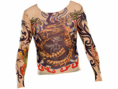 T-Shirts Tattoo en stretch - Tribal & Dragon