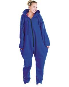 Tenue d'Intérieur bleue 1 pièce en textile polaire taille L