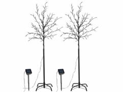 Deux arbres à LED solaires avec 120 fleurs LED chacun.