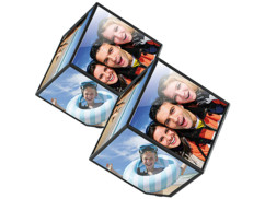 Lot de 2 cadres photo cubique rotatif de la marque Your Design.