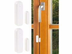 2 capteurs sans fil portes et fenêtres pour système d'alarme XMD-5400 - Compact