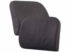 2 coussins ergonomiques dorsaux en mousse à mémoire de forme avec sangle