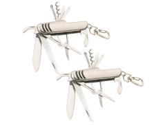 Lot de 2 couteaux de poche multifonction 11 en 1 par Pearl.
