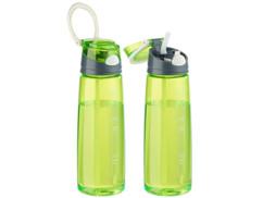 2 gourdes à ouverture rapide de 700 ml - Vert