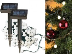 2 guirlandes solaires programmables - 102 LED blanches