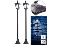 2 lampadaires de jardin solaires à LED