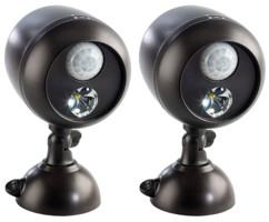 2 lampes murales avec détecteur de mouvement