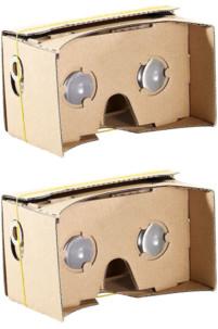 """2 lunettes de réalité virtuelle pour smartphones - 4-5"""""""