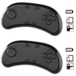2 manettes de jeu bluetooth et contrôleur audio