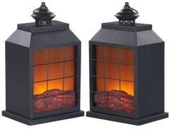 Lot de 2 mini cheminées décoratives Carlo Milano.