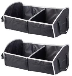 2 sacs de rangement pliable pour coffre de voiture