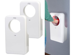 2 sèche-mains professionnels 1450 W à éclairage LED